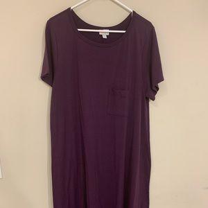 LuLaRoe Plum Carly T-Shirt Dress